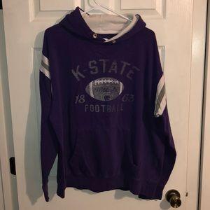 Tops - K State Wildcats purple hooded sweatshirt